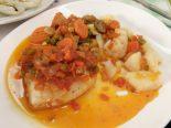 Receta de bacalao a la vizcaína con verduras