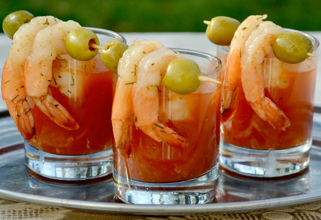 Receta de bloody mary con langostinos for Coctel bloody mary
