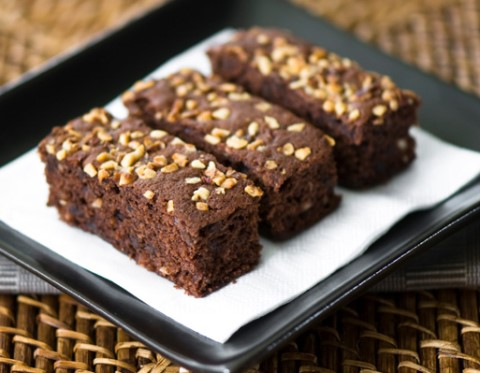 Receta de brownie con nueces