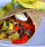 Receta de burrito vegetariano