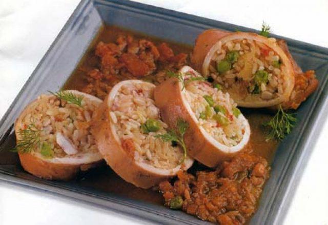 Receta de calamares rellenos de arroz