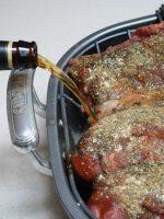 Costillas al horno con cerveza