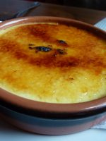 Crema catalana con melón