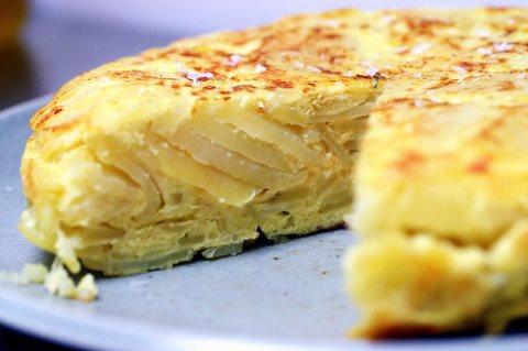 Receta de tortilla de patatas con cebolla