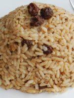 Receta de arroz al horno con pasas