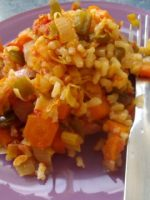 Receta de arroz con verduras y curry