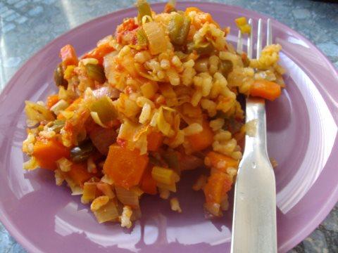 Receta de arroz con verduras y curry