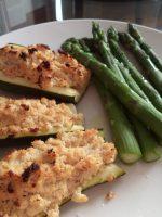 Receta de calabacines rellenos con salmón