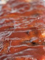 Costillas al horno con salsa