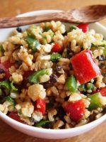Receta de ensalada de arroz con espárragos
