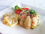 Receta de ensalada de arroz con salchichas
