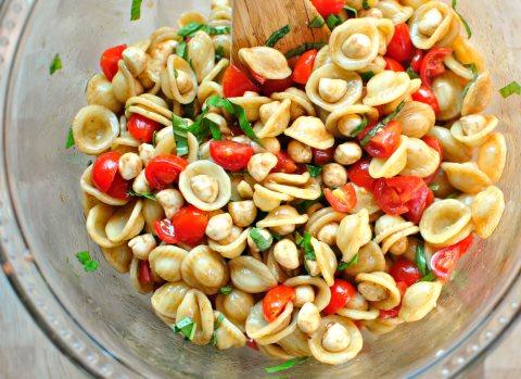 Receta de ensalada de pasta con frutas