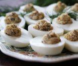 Receta de huevos rellenos champiñones
