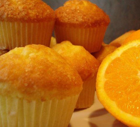 Receta de magdalenas de naranja