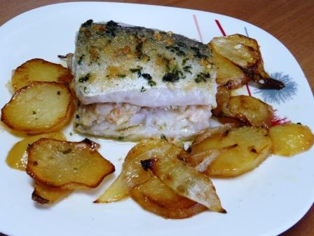 Receta de merluza al horno rellena - Merluza rellena de marisco al horno ...