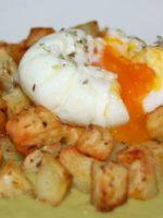Receta de patatas a lo pobre con huevo
