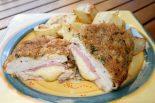 Receta de pollo relleno de jamón