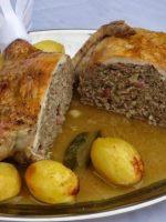 Receta de pollo relleno de carne