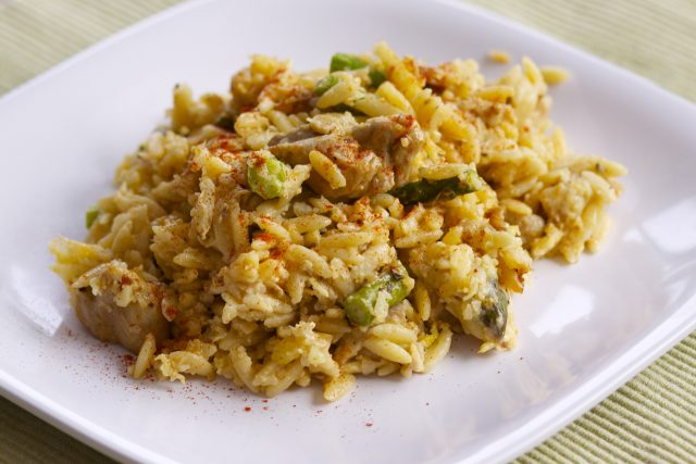 Receta de risotto de pollo