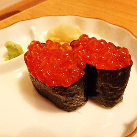 Receta de sushi de huevas