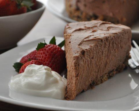 Receta de tarta de chocolate y queso