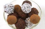 Receta de trufas de chocolate con nata