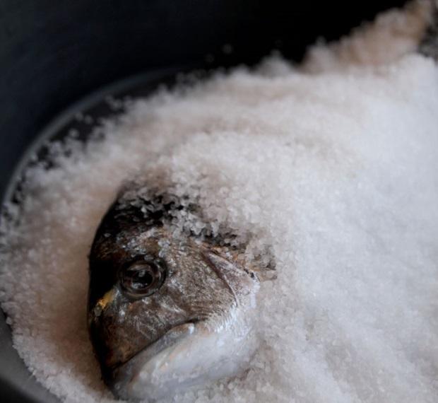 Receta de dorada a la sal microondas