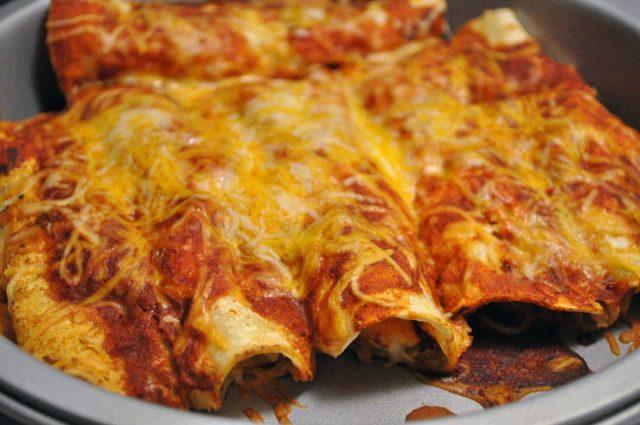 Receta de enchilada mexicana