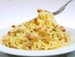 Receta de espaguetis a la carbonara sin huevo