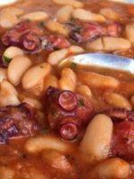 Receta de fabada asturiana con pulpo