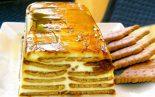 Receta de flan de queso con galletas
