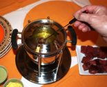 Receta de fondue de carne