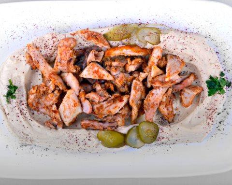 Receta de hummus con pollo