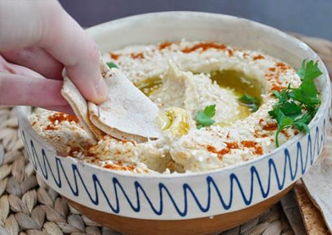 Receta de hummus con tortitas