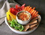 Receta de hummus con verduras
