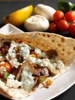 Kebab con queso