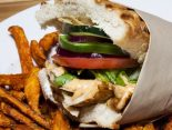 Receta de kebab con verduras