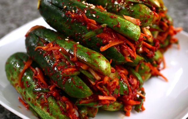 Receta de kimchi de pepino