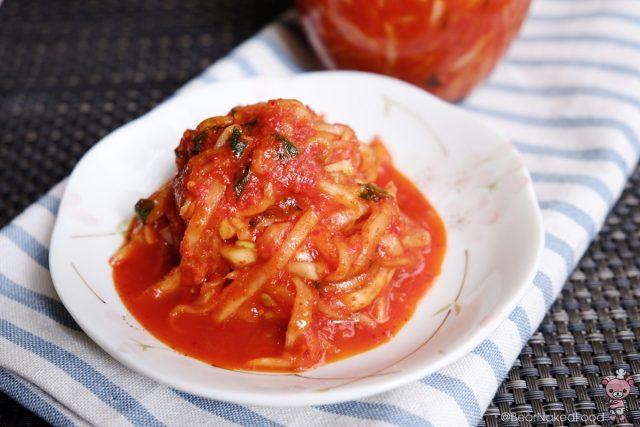 Receta de kimchi de rábano