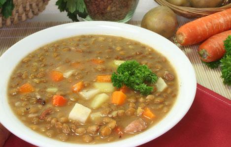 Receta de lentejas con chorizo y caldo de verduras