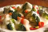 Receta de menestra de verduras con salsa de almendras