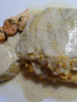 Merluza rellena con salsa verde