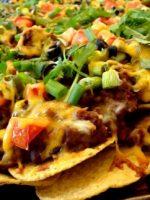 Receta de nachos con carne
