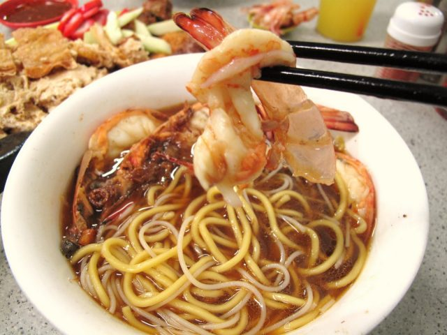 Receta de noodles con gambas