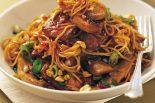 Receta de noodles con ternera y setas