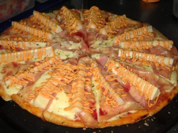 Receta de pizza americana
