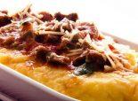 Receta de polenta con salsa