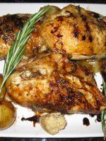 Pollo al ajillo con patatas