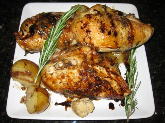 Receta de pollo al ajillo con patatas
