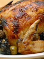 Receta de pollo asado con manzana